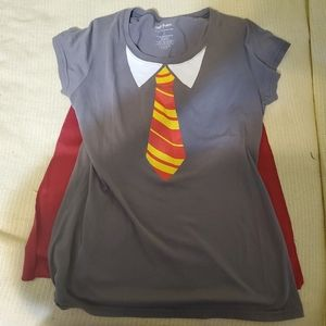 Gryffindor Tie Shirt with Detachable Cape